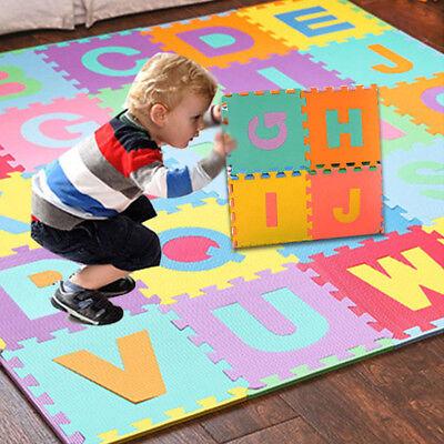 36PCS Alphabet Numbers EVA Floor Play Mat Baby Room ABC Foam Puzzle Waterproof