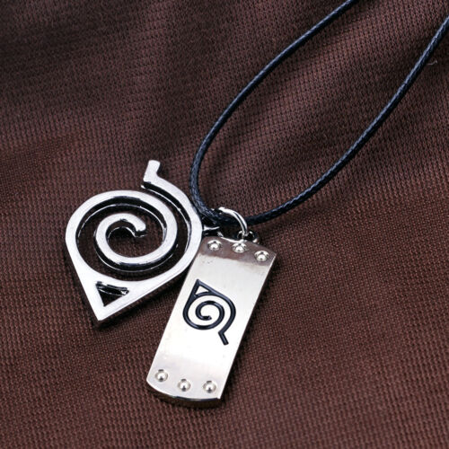 New Naruto Kunai Zabuza Kakashi Asuma Sword Shuriken Sasuke Cos Hemp Necklace
