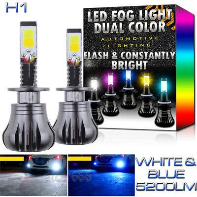 High Power H1 LED DRL Fog Driving Light Bulb Dual Color Strobe Flash White - Double Flash Xenon Strobe Light