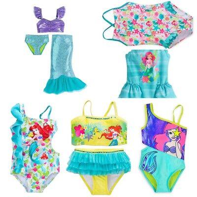 Ariel Mermaid Dress Up (Disney Store Ariel Little Mermaid Swimsuit Girls Dress Up Deluxe Swimwear Tail)