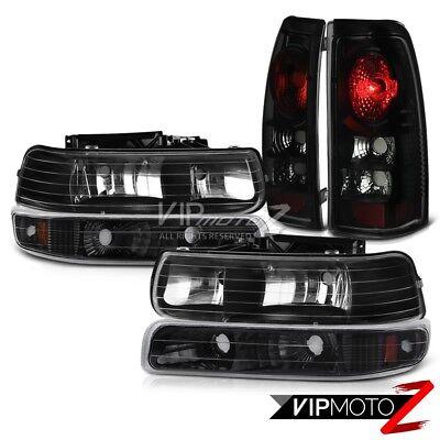 99-02 Chevy Silverado 1500 SINSITER BLACK Bumper Signal Headlight Tail Lights