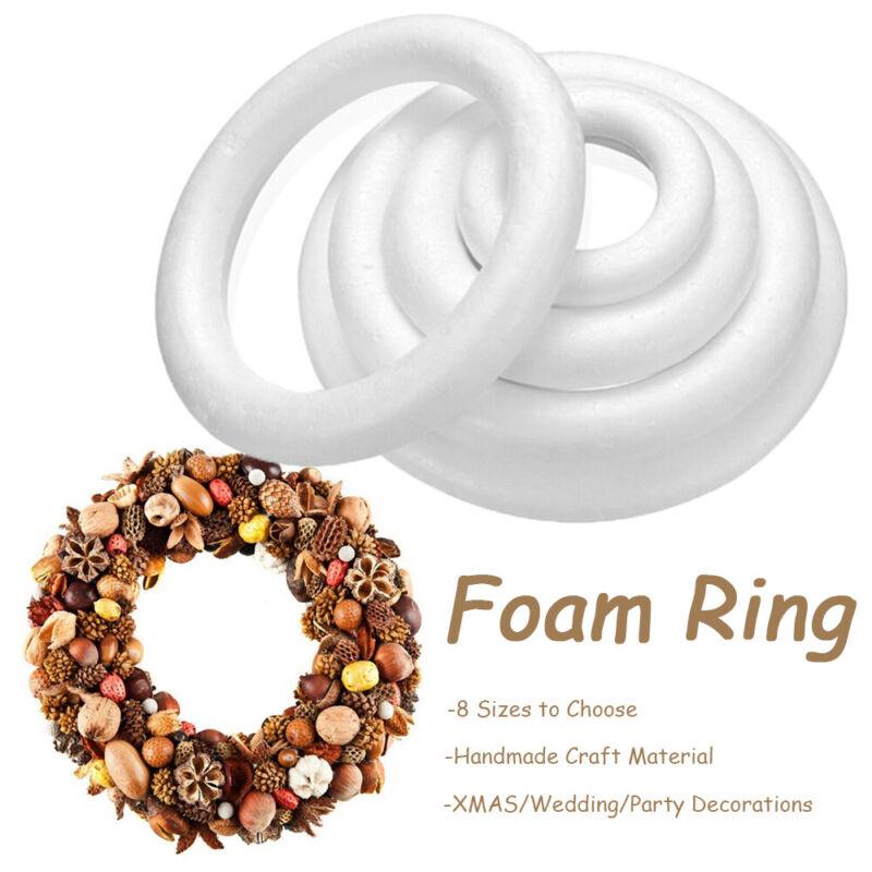 xmas polystyrene styrofoam foam ring decorations