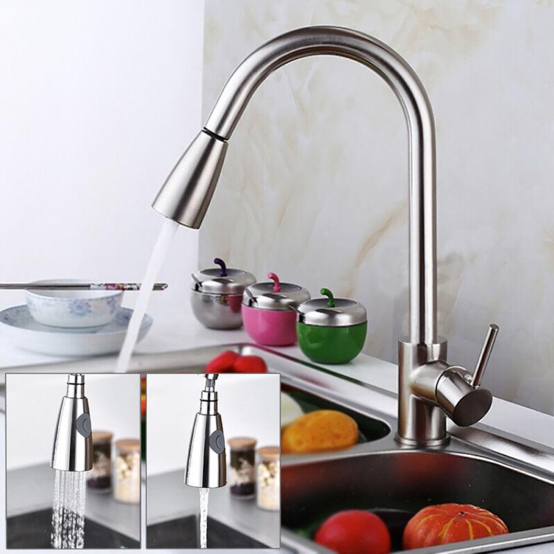 360° Drehbar Wasserhahn Küchenarmatur ausziehbar Küche Spültischarmatur