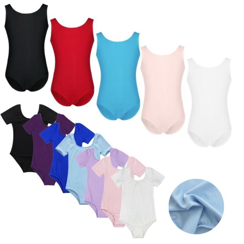 Child Girls Gym Mesh Back Leotards Bodysuit Ballet Dance Zipper Closure Costumes