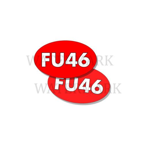 FU46 - ANTI BIDEN Funny Bumper Sticker Decal FU 46 DND 5in x 3in - 2 Pack Ovals