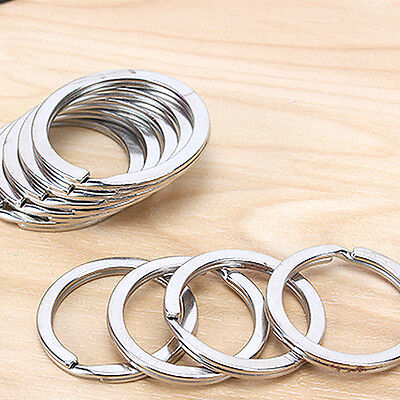 10Pcs Lot Metal Key Holder Split Rings Keyring Keychain Keyfob DIY 25mm - Diy Keychain