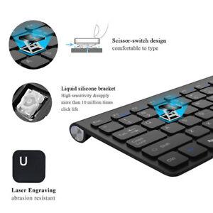 Wireless Keyboard and Mouse Cordless Set 2.4G Black PC Latptop Desktop Mac