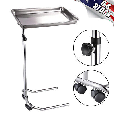 Mobile Mayo Stand Adjustable Medical Salon Tattoo Instrument With Removable Tray