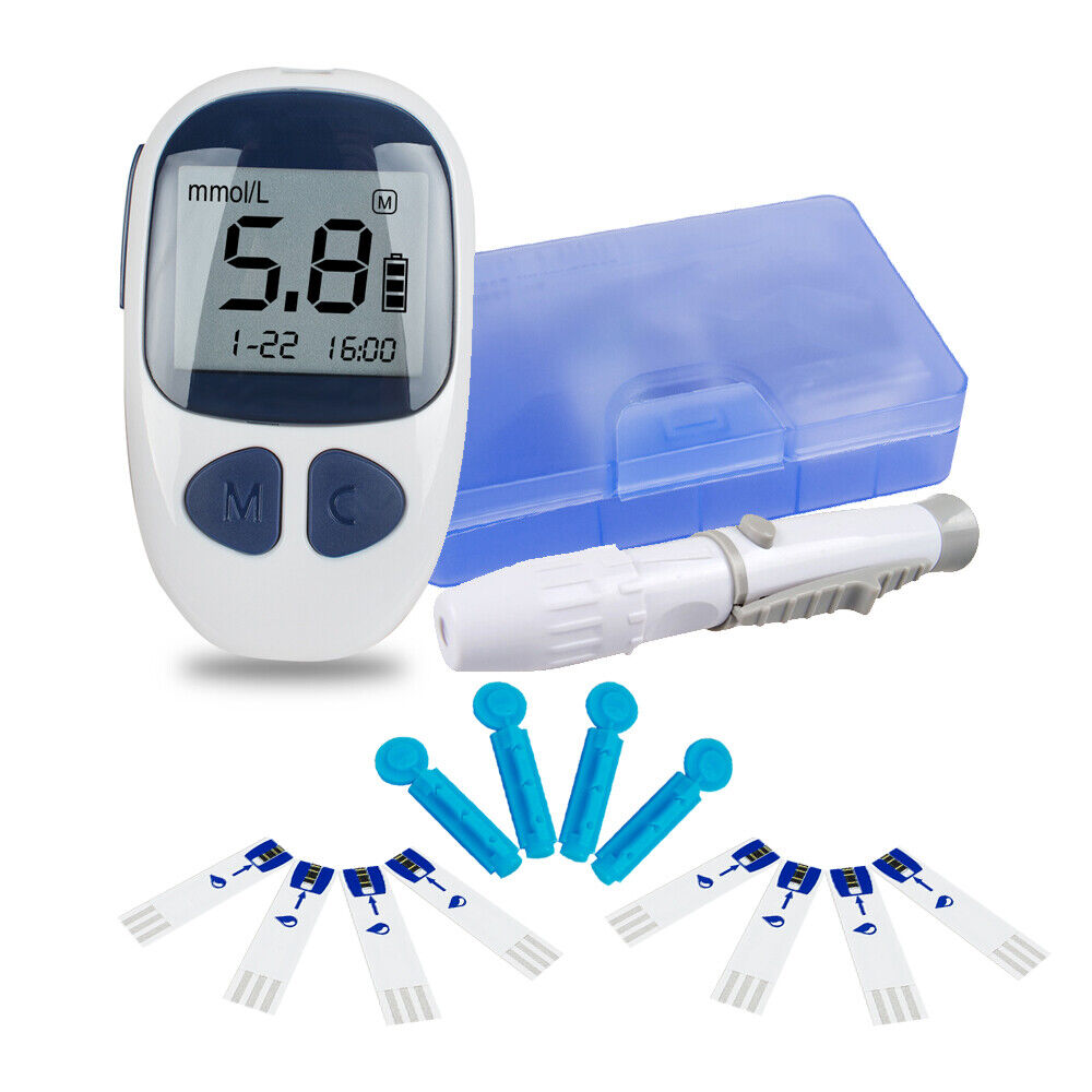 Blood Glucose Kit Glucometer Sugar Meter Monitor Diabetes+50