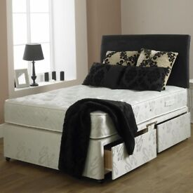 **Orthopedic Bed & Mattress** Brand New Kingsize Divan Bed w 10 Royal Orthopaedic Mattress