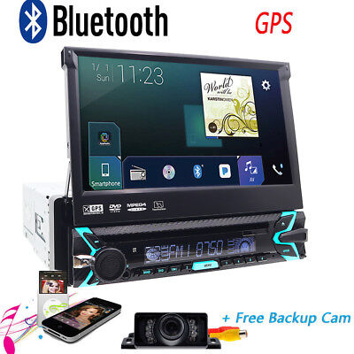 "Single 1 DIN 7"" Car DVD Player Stereo GPS Sat Nav Digital Radio RDS AUTORADIO CD"