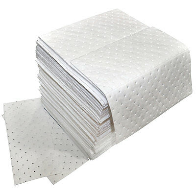 Oil Only Absorbent Pads Medium Weight 100 Per Pack - Free Shipping