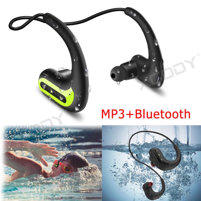 Wireless Earphone Headphone Waterproof IPX8 Sport For Swimmi