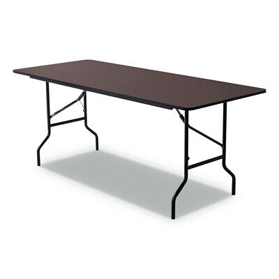 Rectangular Walnut Folding Table - Iceberg 55324 Economy Wood Laminate Folding Table, Rectangular (Walnut) New