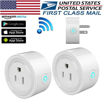 Smart Plug 2Pack Mini Wi-Fi Socket Outlet for Electric Devices Alexa Google Home