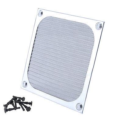 120mm Aluminium Lüfter Filter (PC Aluminium Gehäuse Lüfter Staub Gitter Filter Lüftergitter 120mm 8 Entkoppler)