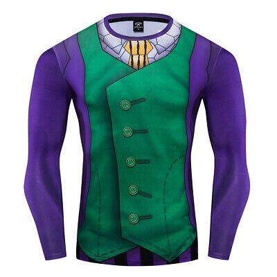 Batman Tights (GUAZON Batman Joker Costume Cosplay Compression Tights Quick-Drying T-shirt)