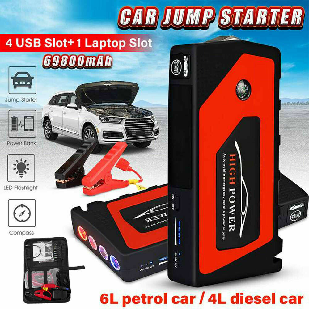 Owner 20000/69800mAh 12V Car Jump Starter Portable Power Bank Battery Booster Charger