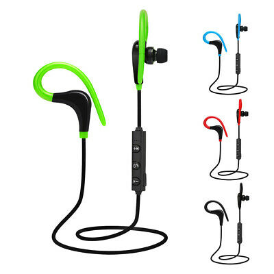 Wireless Bluetooth Waterproof Sports Gym Running Ear Hook Earphones Headphones