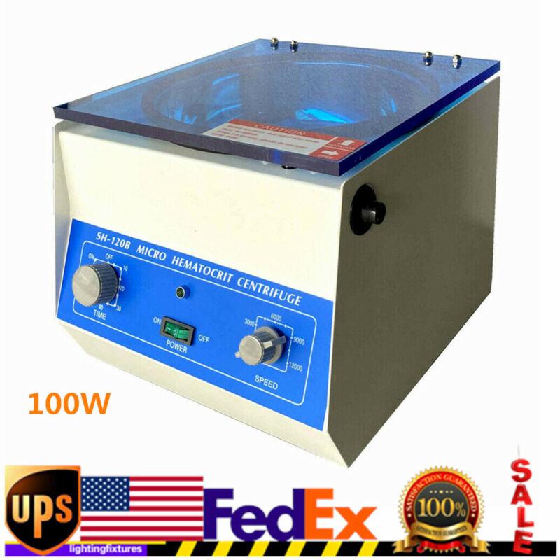100W Lab Centrifuge Hematocrit Microhematocrit High Speed Electric Centrifuge