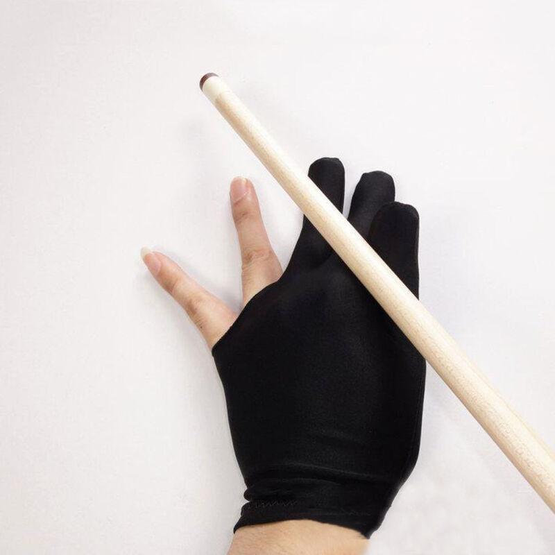 5Pcs 3 Fingers Billiard Cue Pool Gloves Snooker Left Hand Nylon Accessories USA