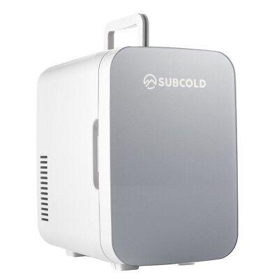 Subcold Ultra 6 Grey | Cooler & Warmer | Small Bedroom Mini Fridge | AC/DC Power