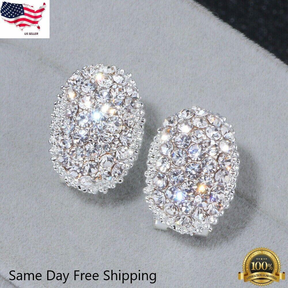 Jewellery - Sunshine Stud Earrings for Women 925 Silver Jewelry White Sapphire A Pair/set