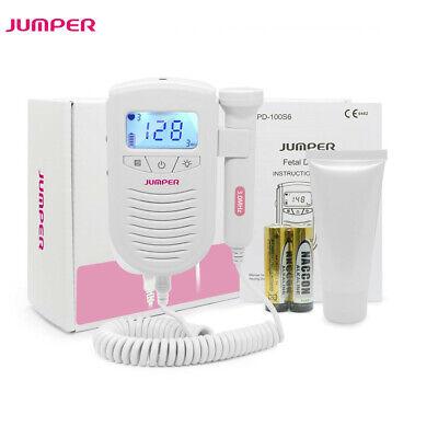 Jumper Fetal Doppler Baby Heart Monitor 3mhz Probe Free Batteries Free Gel Fda