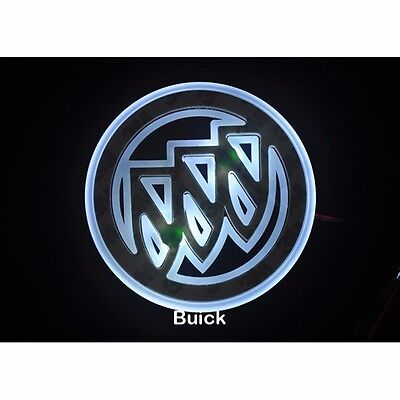 2D LED Car Tail Logo White light Auto Badge Emblems Lamp For Buick Excelle 2010