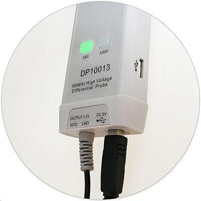 Micsig Oscilloscope High Voltage Differential Probe Kit Dp10013 1300v Usa Stock