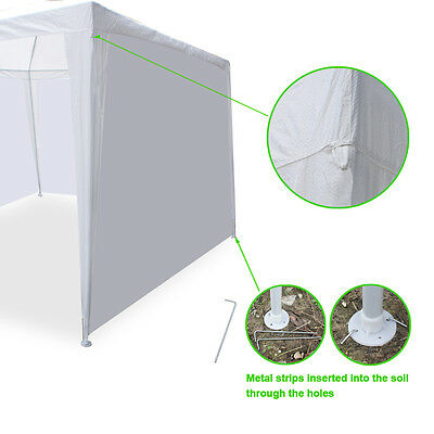 10′ X 20′ Wedding Party Tent Gazebo BBQ Pavilion Canopy Full 6Pcs Side Walls Garden Structures & Shade