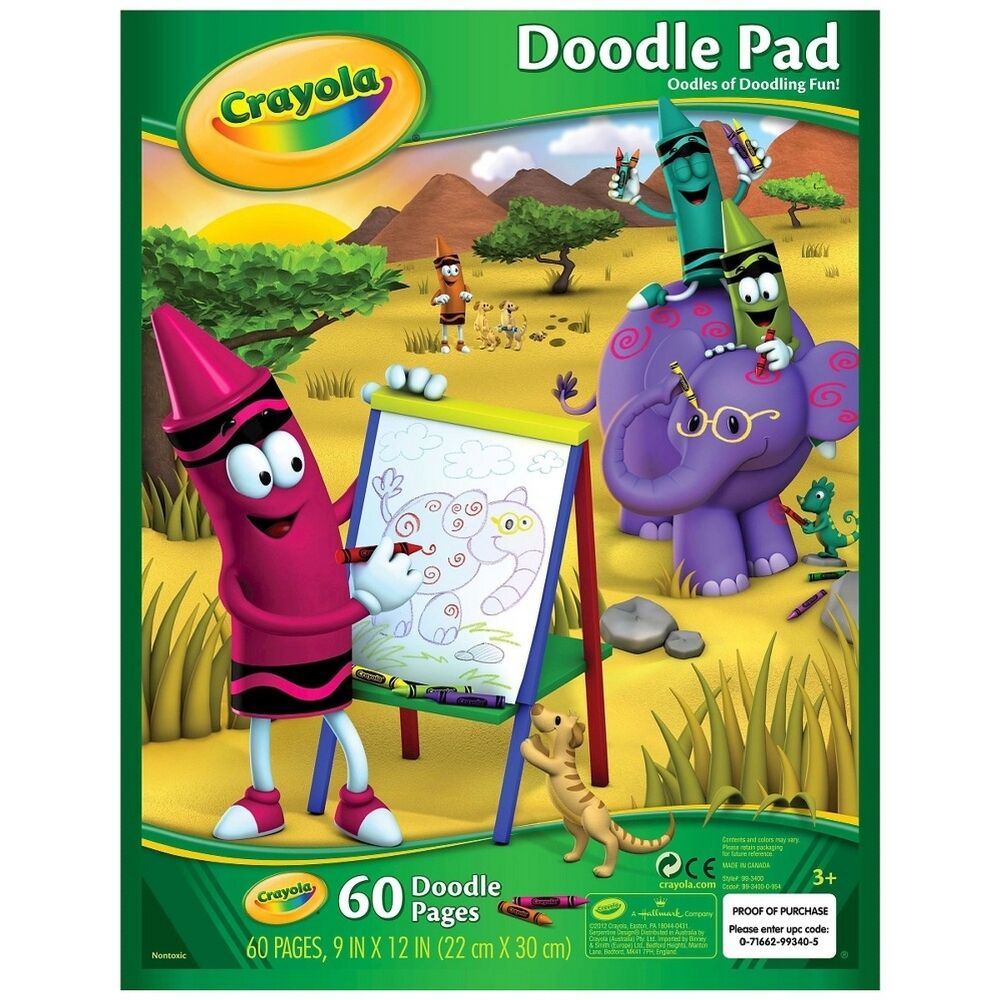 Crayola Doodle Pad 9 X 12 60 Sheets 1 ea