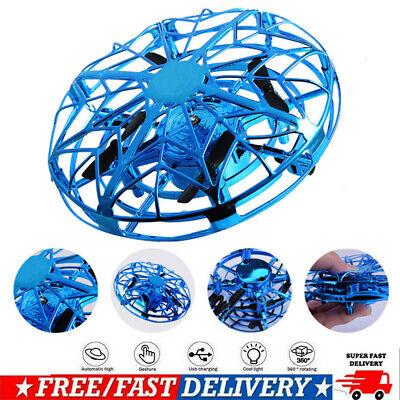 Mini Drone Quad Induction Levitation UFO LED Light USB Charging Kids Gift Toy BO