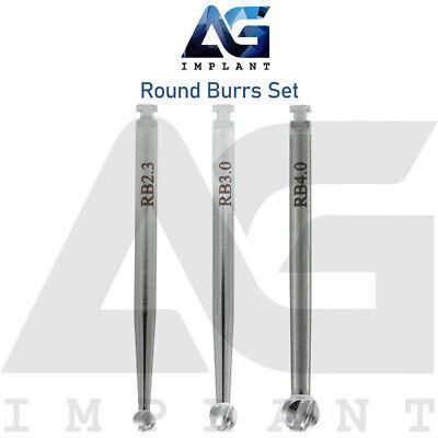 3 Round Burs External Irrigation Surgical Tools Drills Instrument Dental Implant