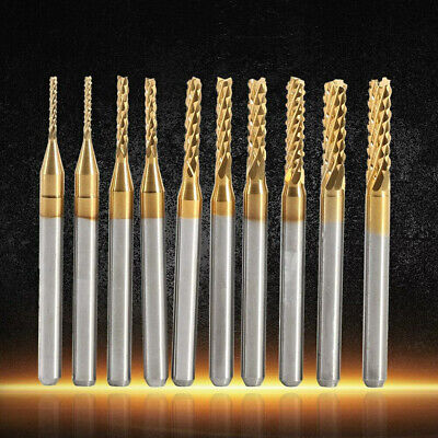 10pcs End Mill Titanium Coated Cnc Shank Drill Milling Bits Cutter 1.0-3.0mm