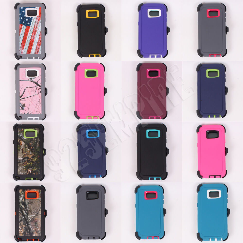 Купить Unbranded/Generic Heavy Duty Hybrid Defender Series - For Samsung Galaxy S7 Edge case cover (Clip Fits OtterBox Defender)