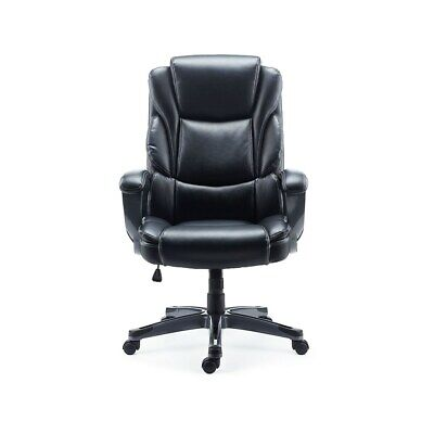 Staples Mcallum Bonded Leather Managers Chair Black 2710763