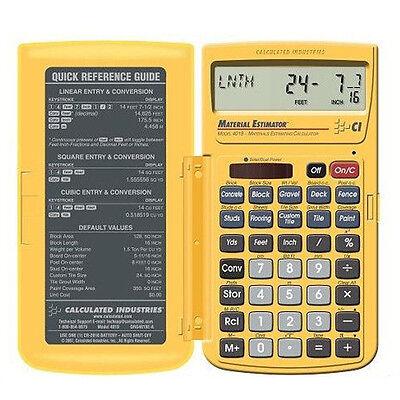 Calculated Industries Material Estimator Calculator 4019