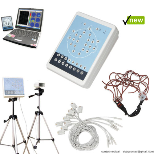 CONTEC EEG machine 16 Channel Brain electric Mapping System +Tripods+PC Software