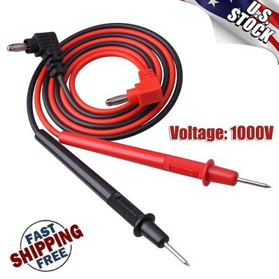 28 Multimeter Test Lead Probe Wire Cable Banana Plug For Dc Power Supply 1000v