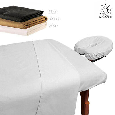 - MASSAGE TABLE 100% MICROFIBER FITTED SHEET SET - 3pc SHEETS SET - 3 COLORS