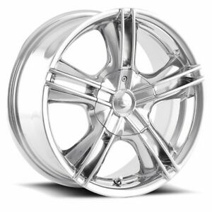 Ion 161 chrome 16x7 5x4.5 114.3 5x100 +35mm offset must sell