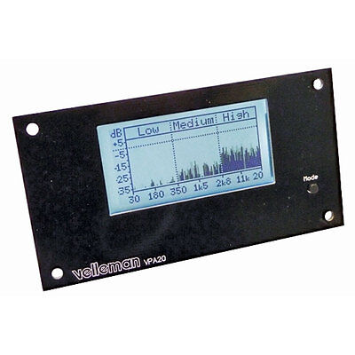 Velleman K8098 Audio Analyzer Kit with White LCD