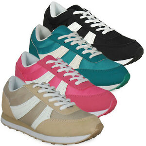 LADIES-WOMENS-GIRLS-LACE-UP-FLAT-UK-WALKING-JOGGING-RUNNING-TRAINERS-SHOES-SIZE