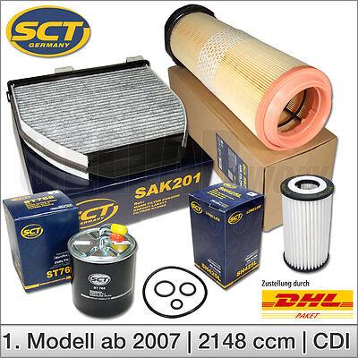Mercedes Benz C-Klasse W204 S204 200 220 CDI Inspektionspaket Filtersatz Filter