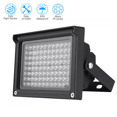 96LED Infrared IR Illuminator Lamp Night Vision Floodlight Waterproof Light R6D0