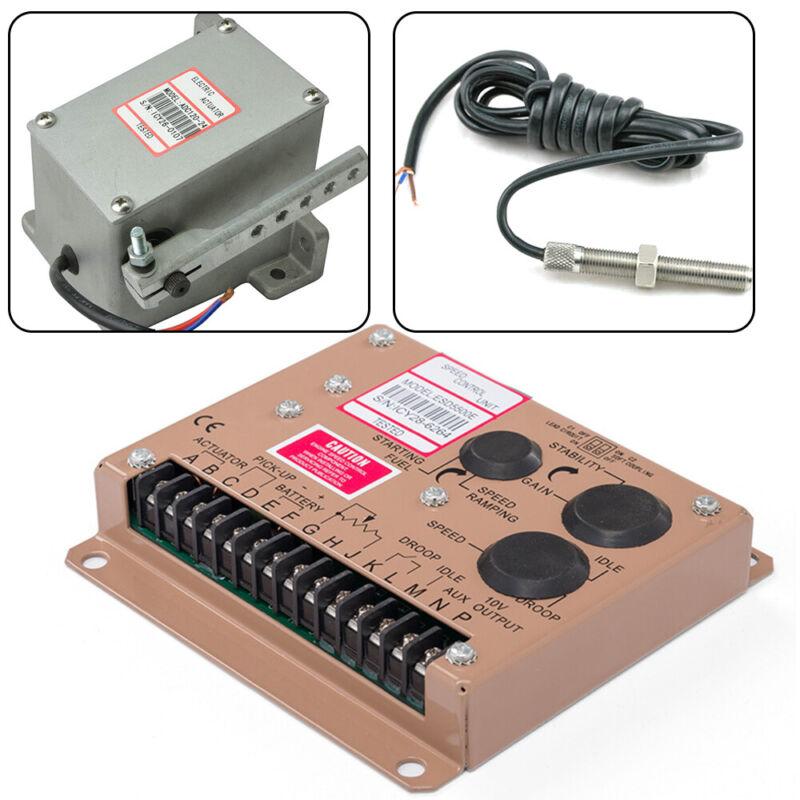 12V/24V Electronic Engine Speed Controller Governor Magnetic Speed Sensor Kit US