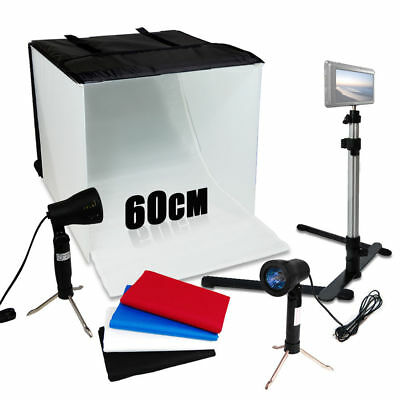 Photo Studio 24  Photography Light Tent Backdrop Kit 60Cm Cube Lighting In A Box
