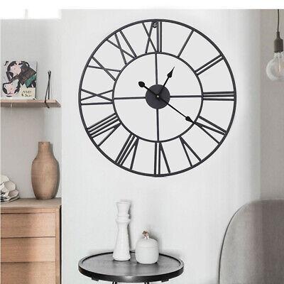 Metall Wanduhr Runde Zahlen große Uhr Vintage Industrie Design 60cm (Uhr Vintage Wand)