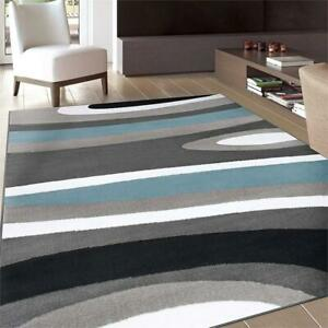 NEW Rugshop Abstract Contemporary Modern Area Rug, 33 x 53, Blue Condtion: New, 33 x 53, Blue